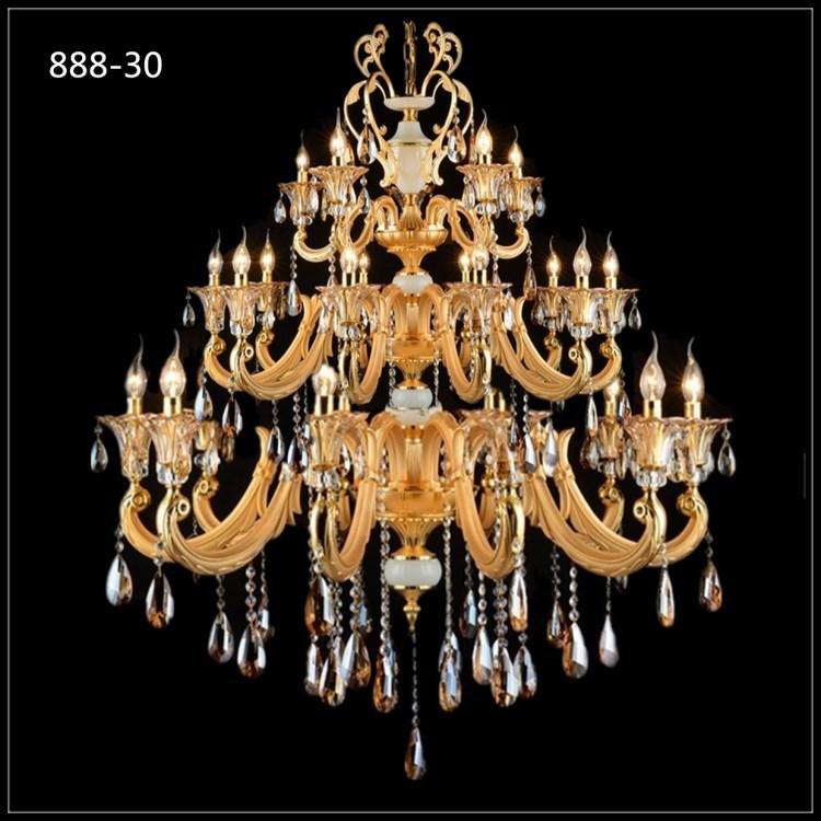 Đèn chùm pha lê nến kiểu Ý sang trọng đầy ấn tượng 888-30
