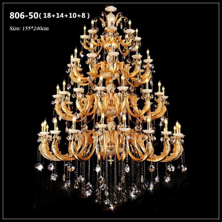 Đèn chùm pha lê nến kiểu Ý sang trọng đầy ấn tượng 806-50