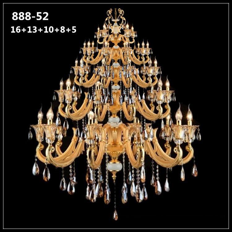 Đèn chùm pha lê nến kiểu Ý sang trọng đầy ấn tượng 888-52