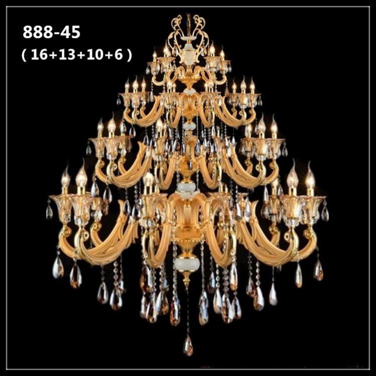 Đèn chùm pha lê nến kiểu Ý sang trọng đầy ấn tượng 888-45
