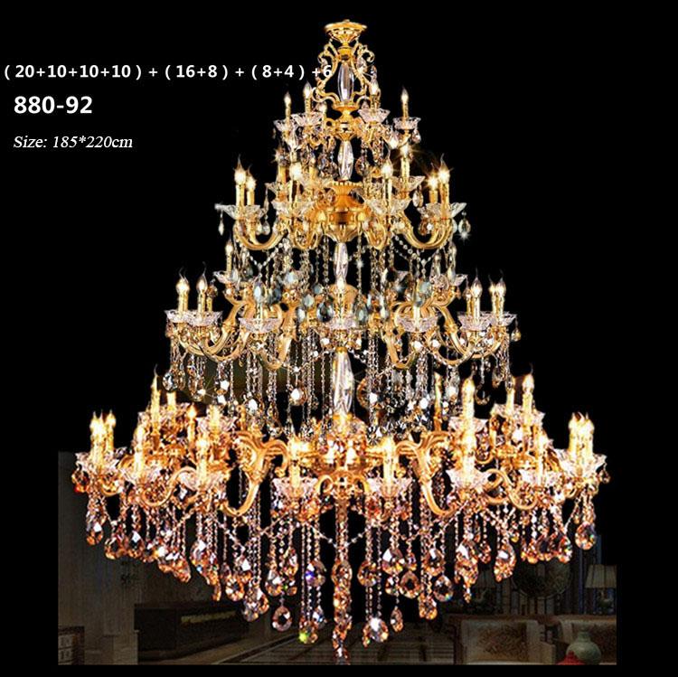 Đèn chùm pha lê nến kiểu Ý sang trọng đầy ấn tượng 880-92