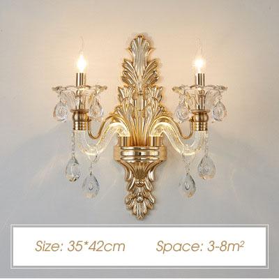 Đèn ốp tường pha lê nến kiểu Ý sang trọng đầy ấn tượng HD20018-2
