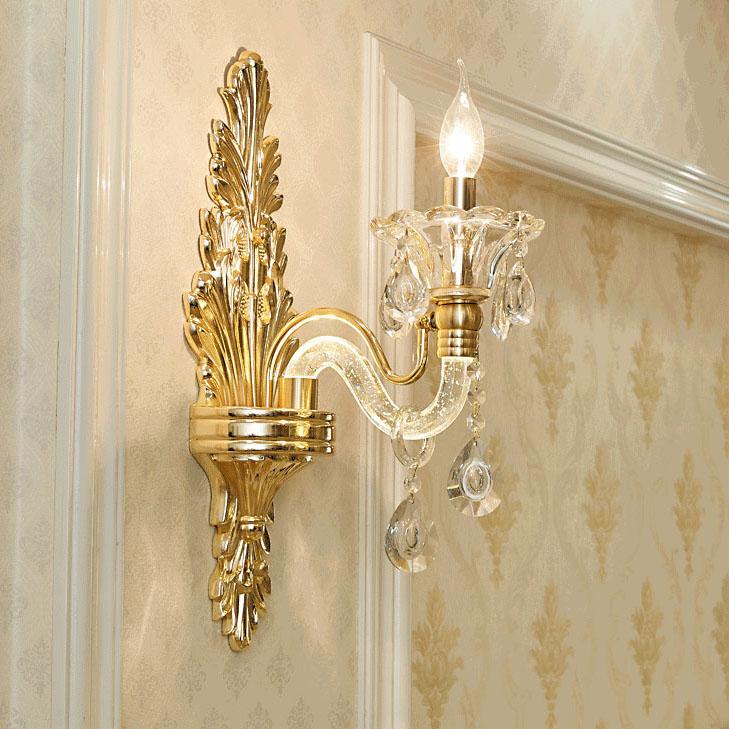 Đèn ốp tường pha lê nến kiểu Ý sang trọng đầy ấn tượng HD20018-1