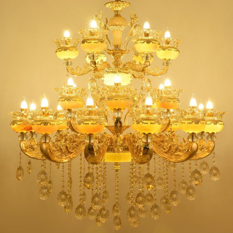Đèn chùm pha lê nến kiểu Ý sang trọng đầy ấn tượng LA815 -1- 12+6+6