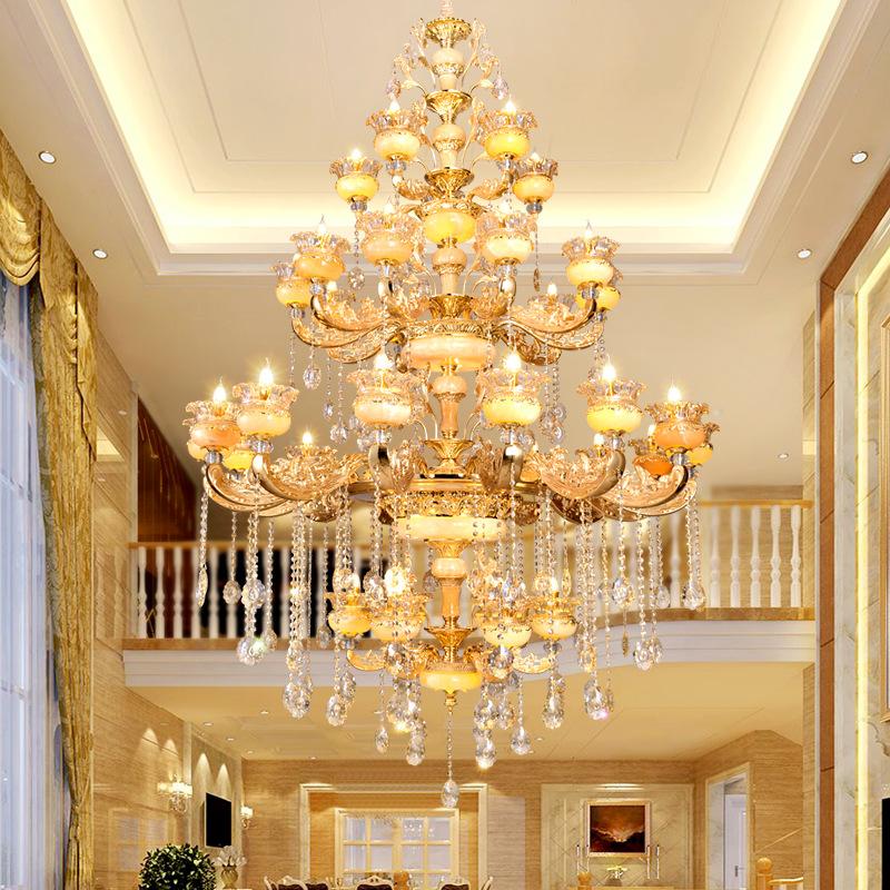 Đèn chùm pha lê phong cách Châu Âu phù hợp biệt thự và sảnh lớn sang trọng lộng lẫy đầy ấn tượng 8118C