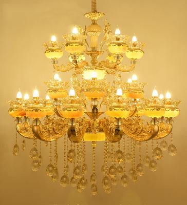 Đèn chùm pha lê phong cách Châu Âu phù hợp biệt thự và sảnh lớn sang trọng lộng lẫy đầy ấn tượng 8118A