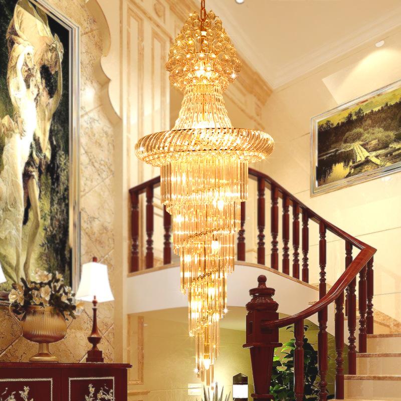 Đèn chùm pha lê phong cách Châu Âu phù hợp biệt thự và sảnh lớn sang trọng lộng lẫy đầy ấn tượng 91402-45