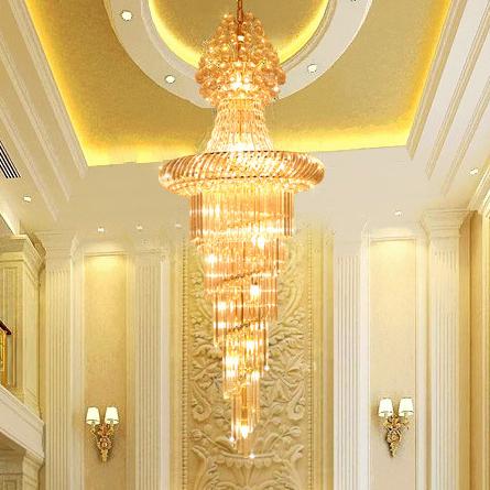 Đèn chùm pha lê phong cách Châu Âu phù hợp biệt thự và sảnh lớn sang trọng lộng lẫy đầy ấn tượng 91402-80