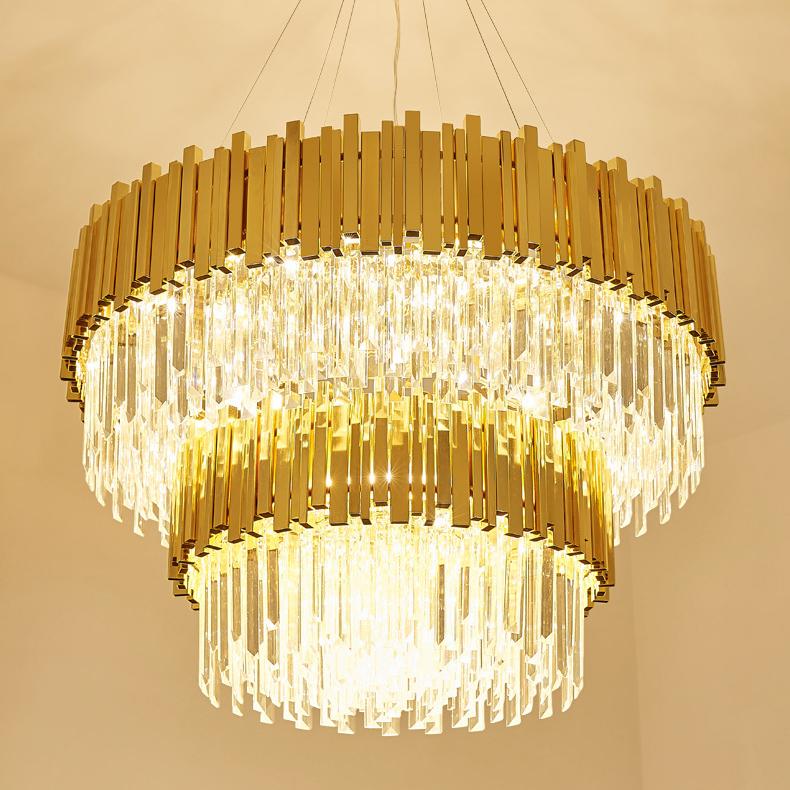 Đèn chùm pha lê phong cách Châu Âu sang trọng đầy ấn tượng 17021 size 120x55cm