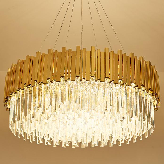 Đèn chùm pha lê phong cách Châu Âu sang trọng đầy ấn tượng 17021-100A size 100x30cm