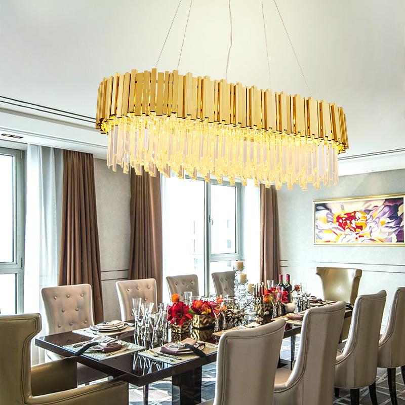 Đèn chùm pha lê phong cách Châu Âu sang trọng đầy ấn tượng 17021A-100