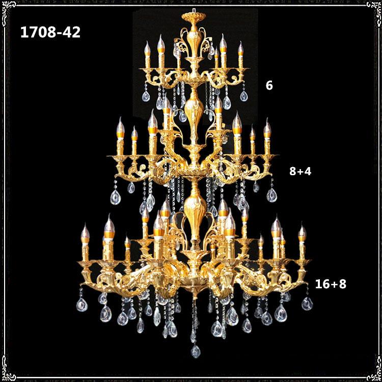 Đèn chùm pha lê phong cách Châu Âu sang trọng đầy ấn tượng 1708A-42