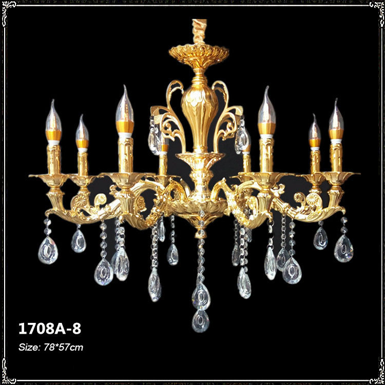 Đèn chùm pha lê phong cách Châu Âu sang trọng đầy ấn tượng 1708A-8