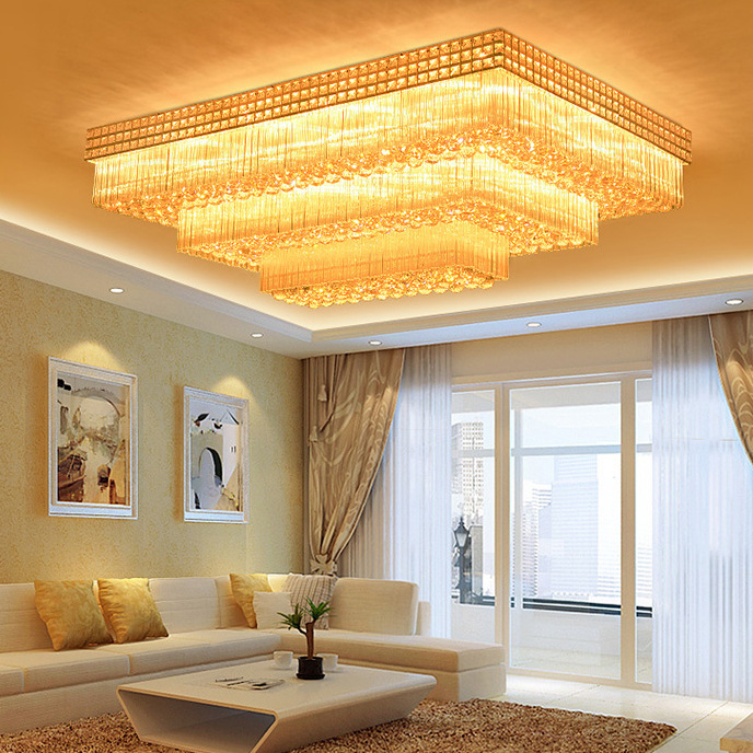 Đèn chùm pha lê phong cách Châu Âu điều khiển từ xa thông minh sang trọng đầy ấn tượng 3392-120x80