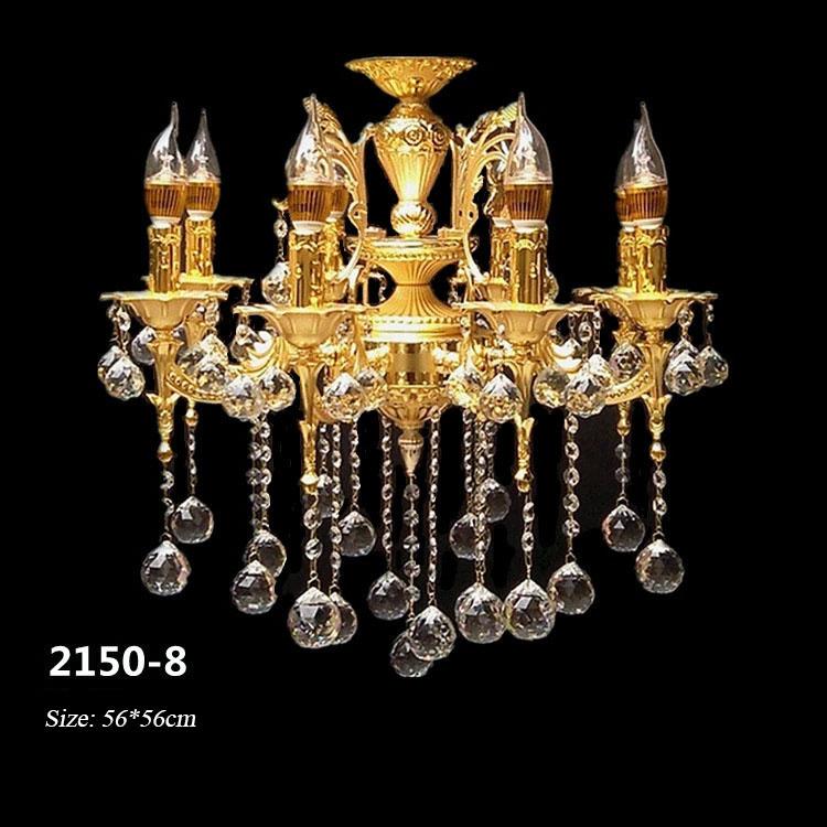 Đèn chùm pha lê phong cách Châu Âu sang trọng đầy ấn tượng 2150-8