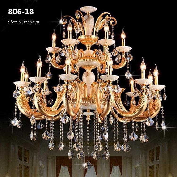 Đèn chùm pha lê phong cách Châu Âu sang trọng đầy ấn tượng 806-18