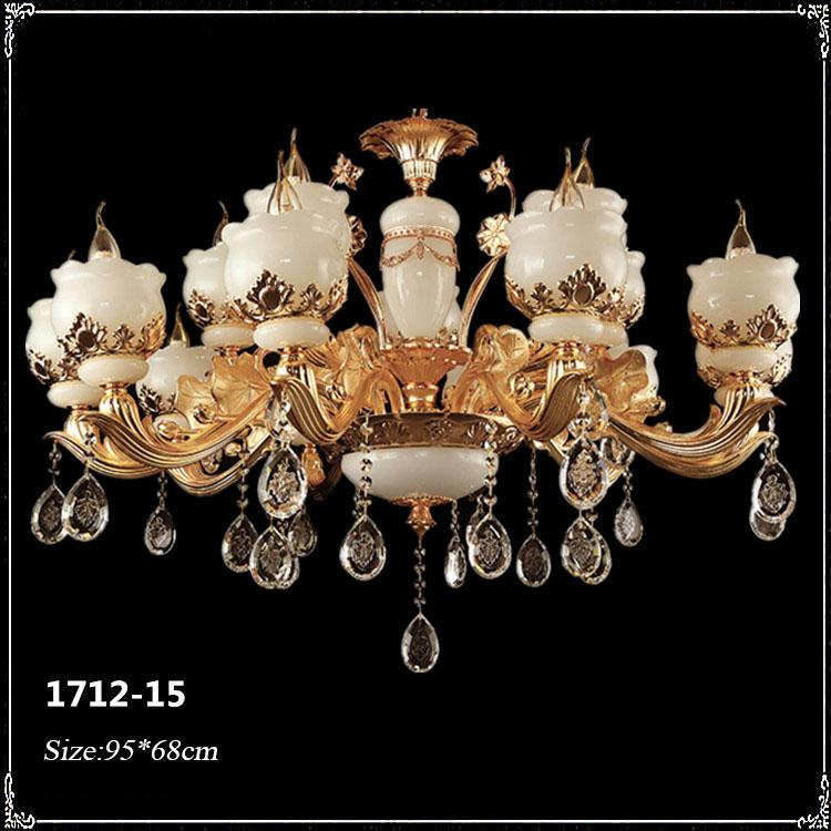 Đèn chùm pha lê phong cách Châu Âu sang trọng đầy ấn tượng 1712-15
