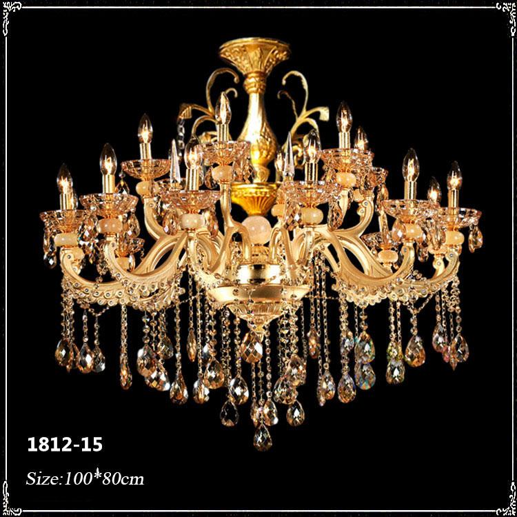 Đèn chùm pha lê phong cách Châu Âu sang trọng đầy ấn tượng 1812-15