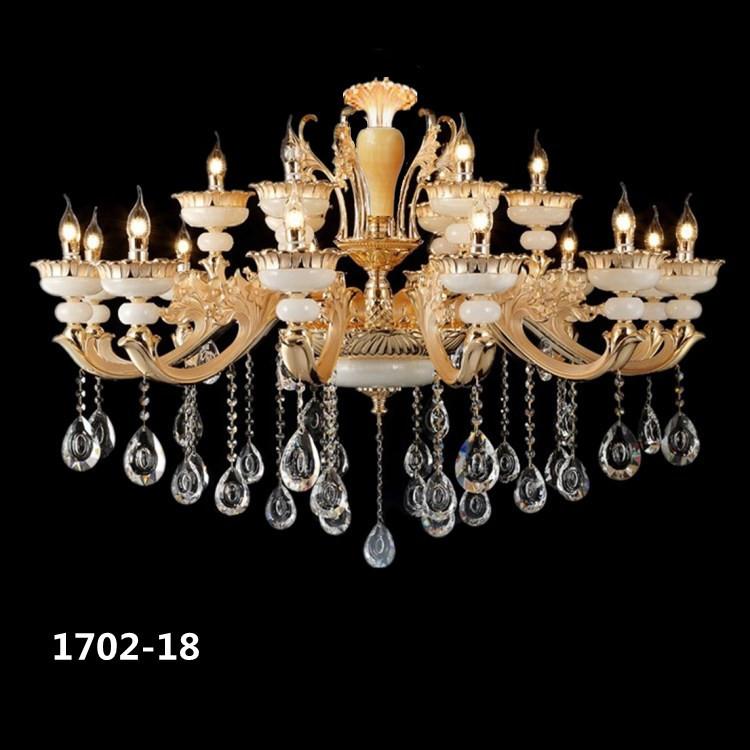 Đèn chùm pha lê phong cách Châu Âu sang trọng đầy ấn tượng 1702-18