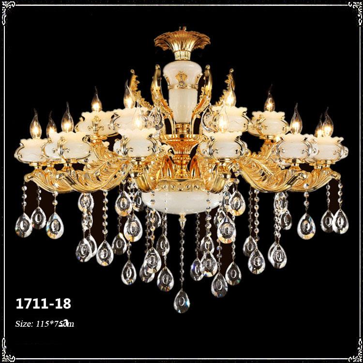 Đèn chùm pha lê phong cách Châu Âu sang trọng đầy ấn tượng 1711-18