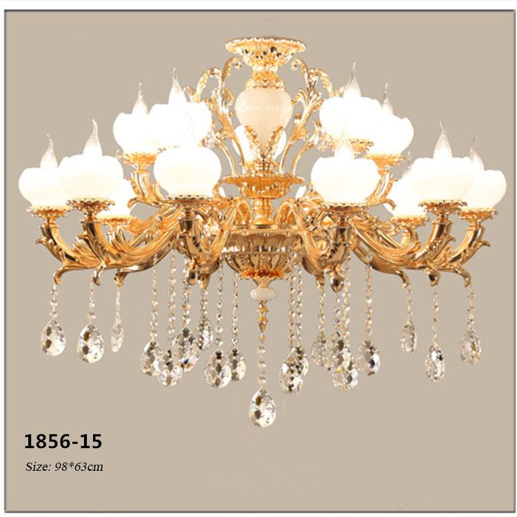 Đèn chùm pha lê phong cách Châu Âu sang trọng đầy ấn tượng 1856-15