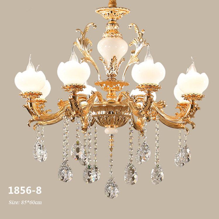 Đèn chùm pha lê phong cách Châu Âu sang trọng đầy ấn tượng 1856-8