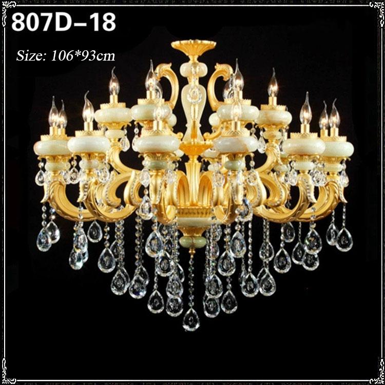 Đèn chùm pha lê phong cách Châu Âu sang trọng đầy ấn tượng 807D-18
