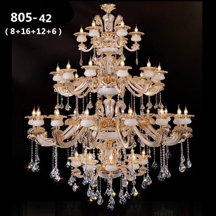 Đèn chùm pha lê phong cách Châu Âu sang trọng đầy ấn tượng 805-42