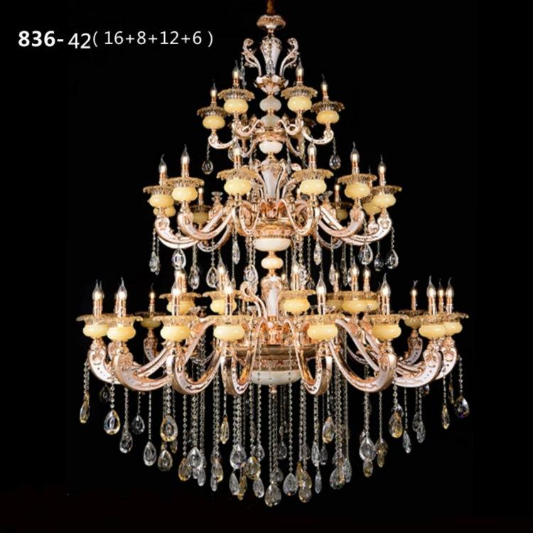 Đèn chùm pha lê phong cách Châu Âu sang trọng đầy ấn tượng 836-42