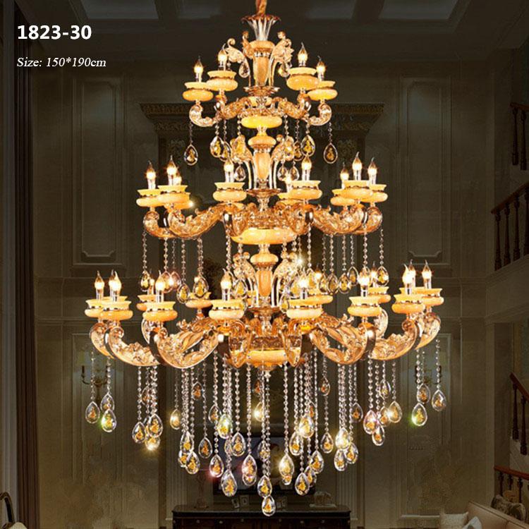 Đèn chùm pha lê phong cách Châu Âu sang trọng đầy ấn tượng 1823-30