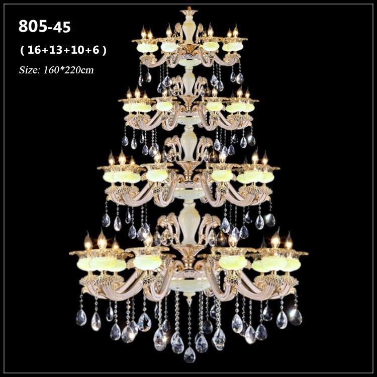 Đèn chùm pha lê phong cách Châu Âu sang trọng đầy ấn tượng 805-45