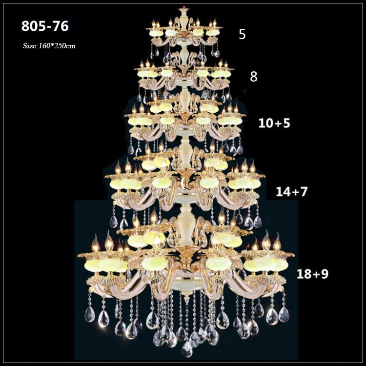 Đèn chùm pha lê phong cách Châu Âu sang trọng đầy ấn tượng 805-76