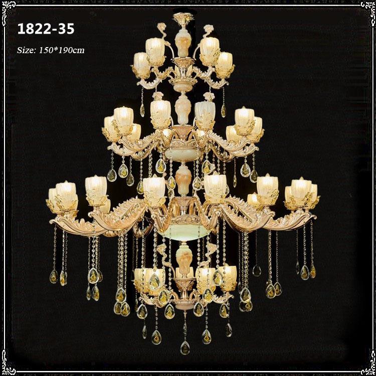 Đèn chùm pha lê phong cách Châu Âu sang trọng đầy ấn tượng 1822-35
