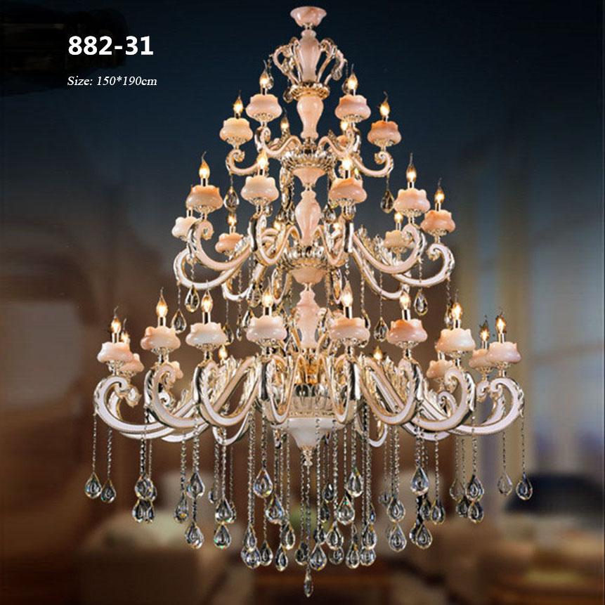 Đèn chùm pha lê phong cách Châu Âu sang trọng đầy ấn tượng 882-31