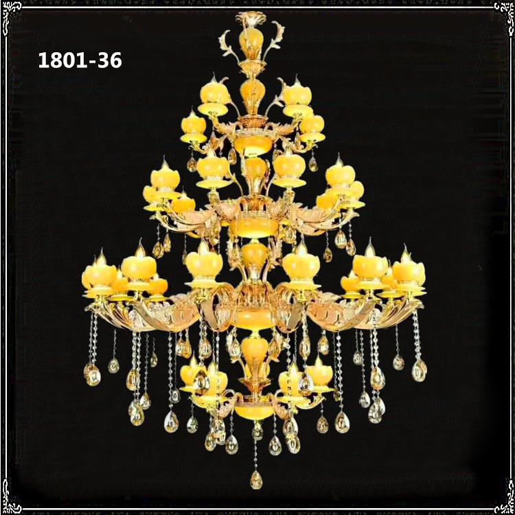 Đèn chùm pha lê phong cách Châu Âu sang trọng đầy ấn tượng 1801-36