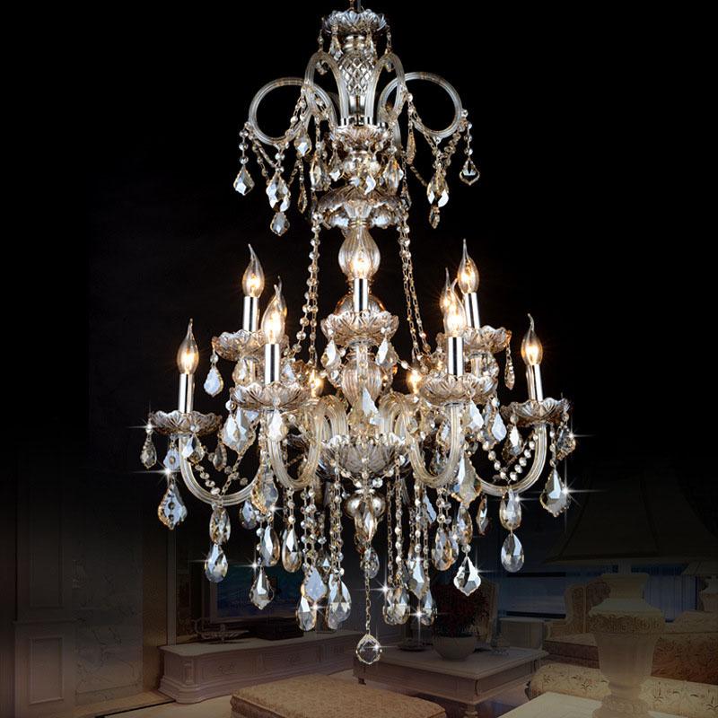 Đèn chùm pha lê phong cách Châu Âu sang trọng đầy ấn tượng HD318001-12