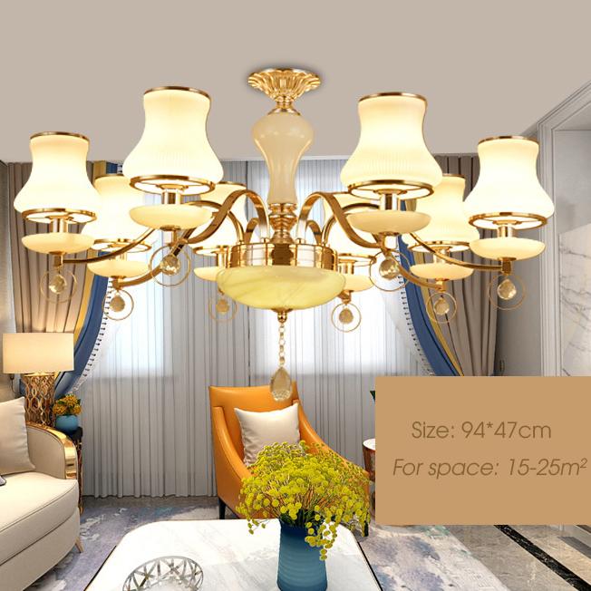 Đèn chùm phong cách Châu Âu sang trọng đầy ấn tượng LA824 -2 - 8