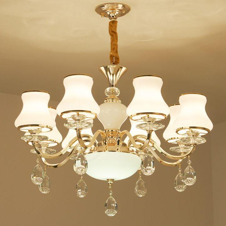 Đèn chùm pha lê phong cách Châu Âu sang trọng đầy ấn tượng LA864-6-8