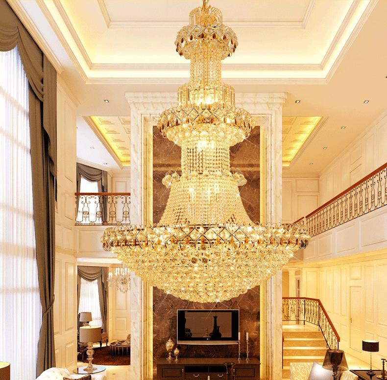 Đèn chùm pha lê phong cách Châu Âu sang trọng đầy ấn tượng WJX6003 size 100x150cm