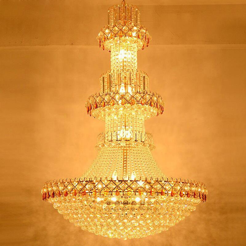 Đèn chùm pha lê phong cách Châu Âu sang trọng đầy ấn tượng WJX6003 size 200x300cm