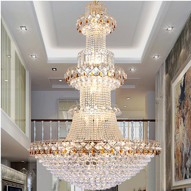 Đèn chùm pha lê phong cách Châu Âu sang trọng đầy ấn tượng WJX6003 size 180x260cm
