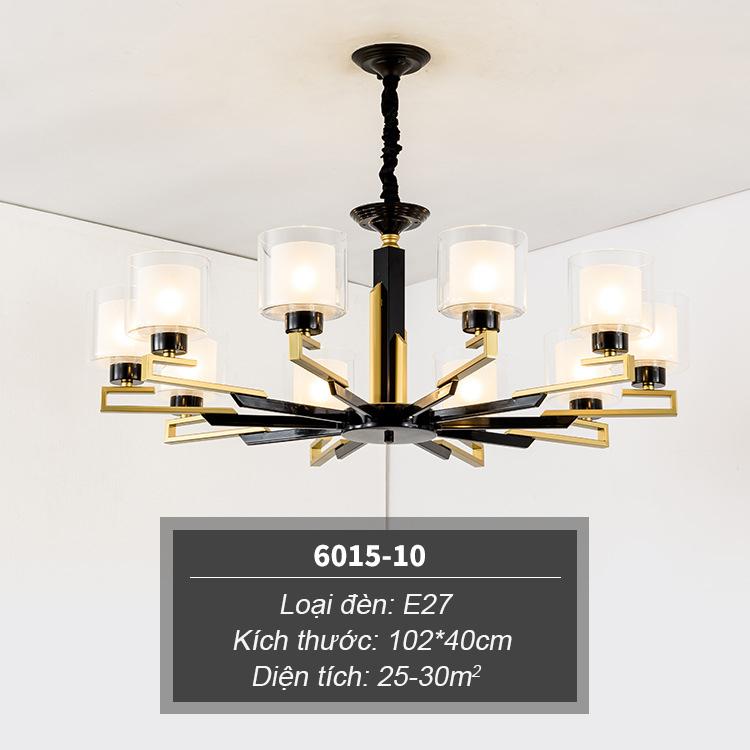 Đèn chùm phong cách Châu Âu thiết kế sang trọng hiện đại đầy ấn tượng 6015-10