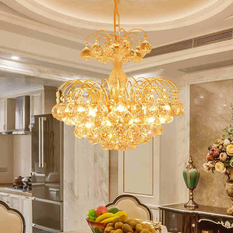 Đèn chùm pha lê phong cách Châu Âu sang trọng đầy ấn tượng LA857 -80 size 80cm