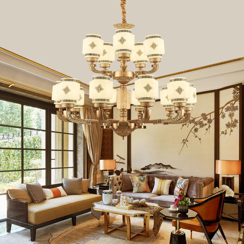 Đèn chùm pha lê phong cách Châu Âu thiết kế tân cổ điển sang trọng đầy ấn tượng LA813 - 1-10+5