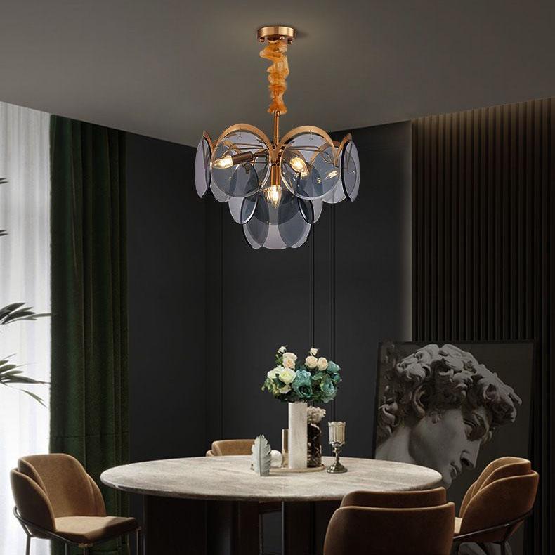 Đèn chùm phòng khách phong cách Châu Âu cao cấp đặc biệt sang trọng và ấn tượng MD6820 size 60cm