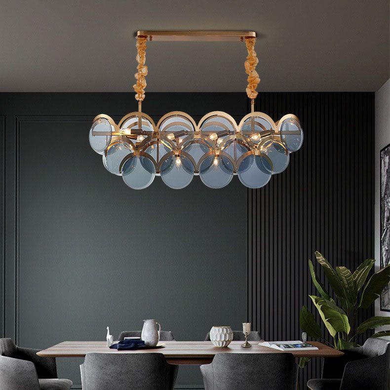 Đèn chùm phòng khách phong cách Châu Âu cao cấp đặc biệt sang trọng và ấn tượng MD6820 size 95cm