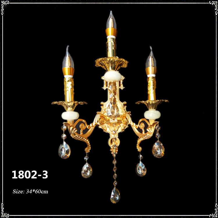 Đèn ốp tường pha lê phong cách Châu Âu sang trọng đầy ấn tượng 1802-3