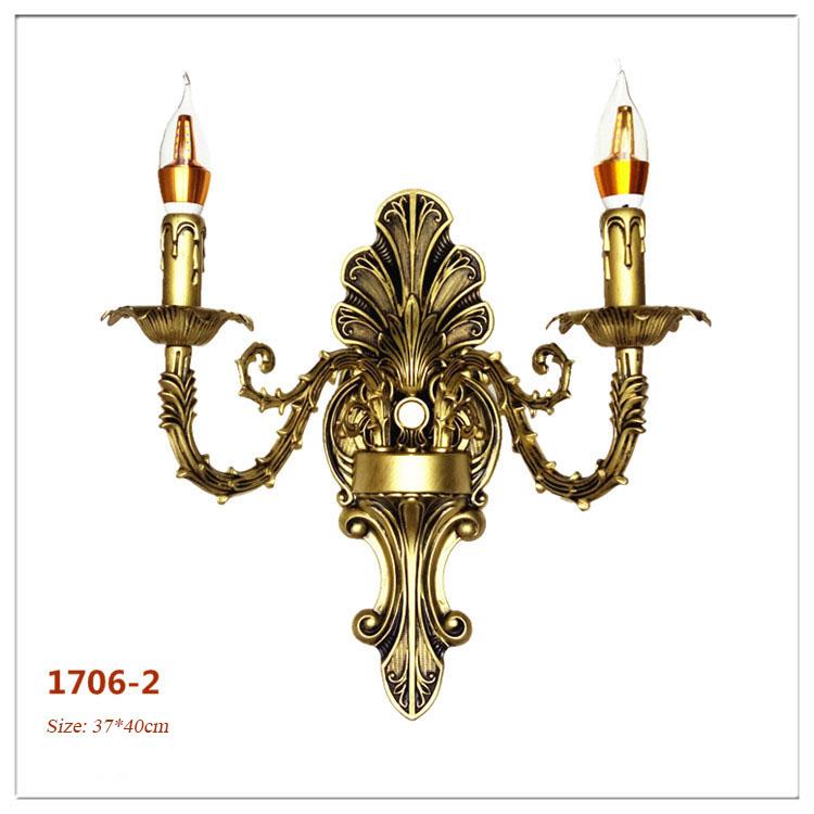 Đèn ốp tường pha lê phong cách Châu Âu sang trọng đầy ấn tượng 1706-2