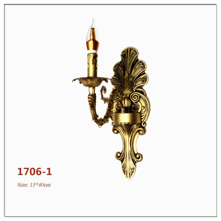 Đèn ốp tường pha lê phong cách Châu Âu sang trọng đầy ấn tượng 1706-1