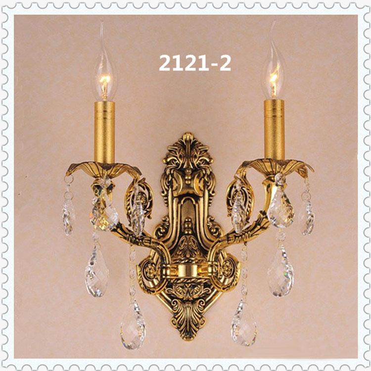 Đèn ốp tường pha lê phong cách Châu Âu sang trọng đầy ấn tượng 2121-2